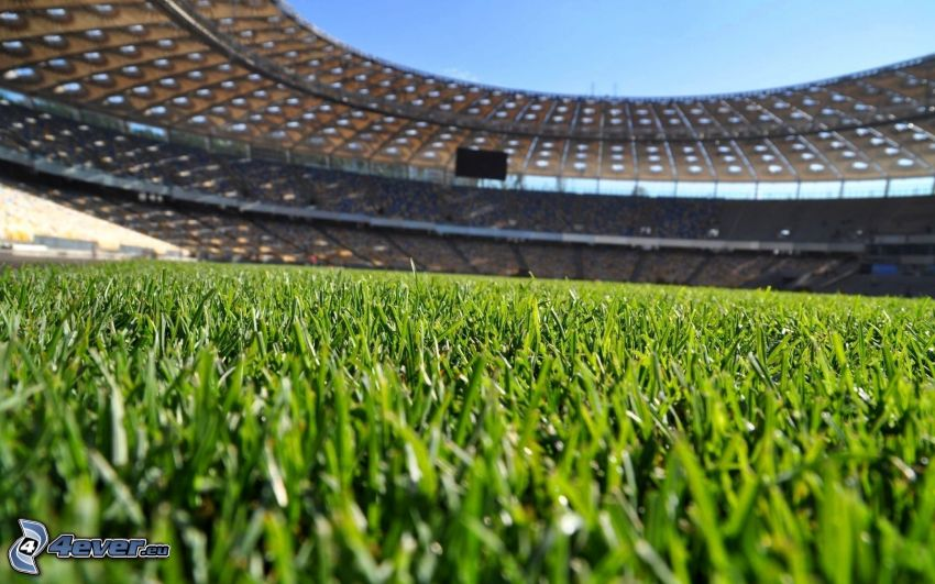 Fußballplatz, Stadion