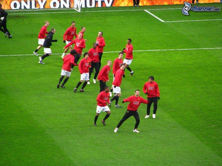 Manchester United, Fußballer, Fußballplatz