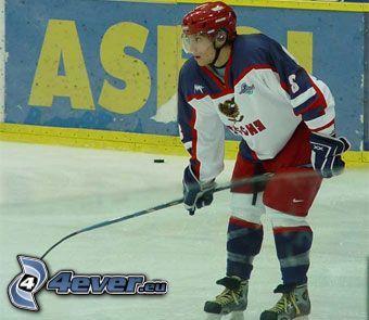 Hockey, Eishockey-Spieler, Eis