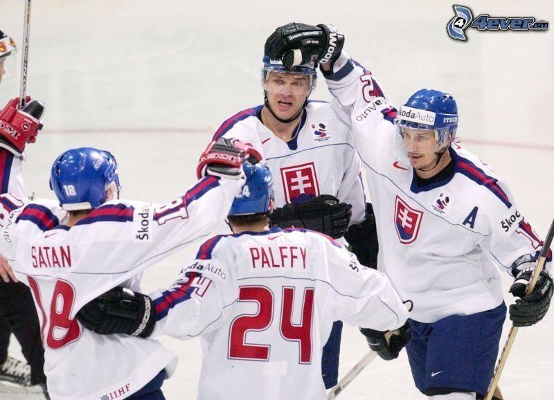 Slowakisches Eishockey-Team, Miroslav Šatan, Žigmund Pálffy