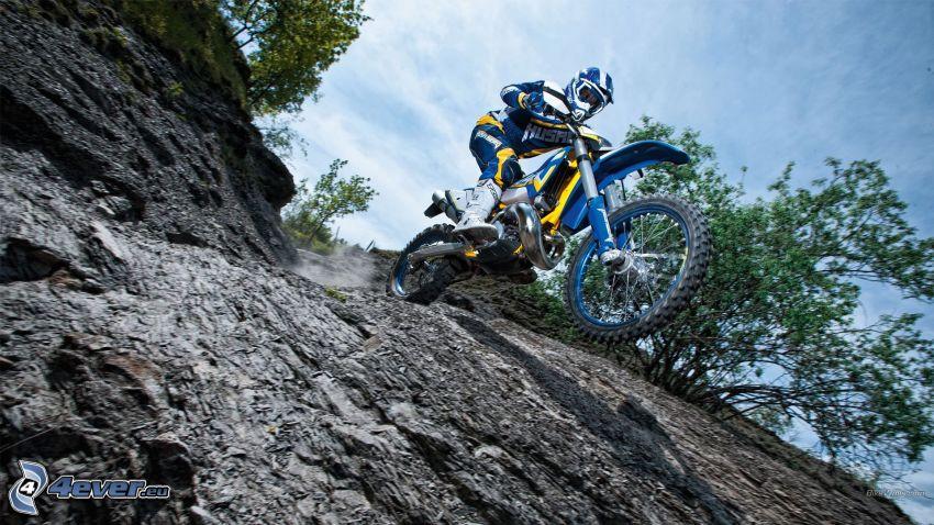 motocross, Felsen