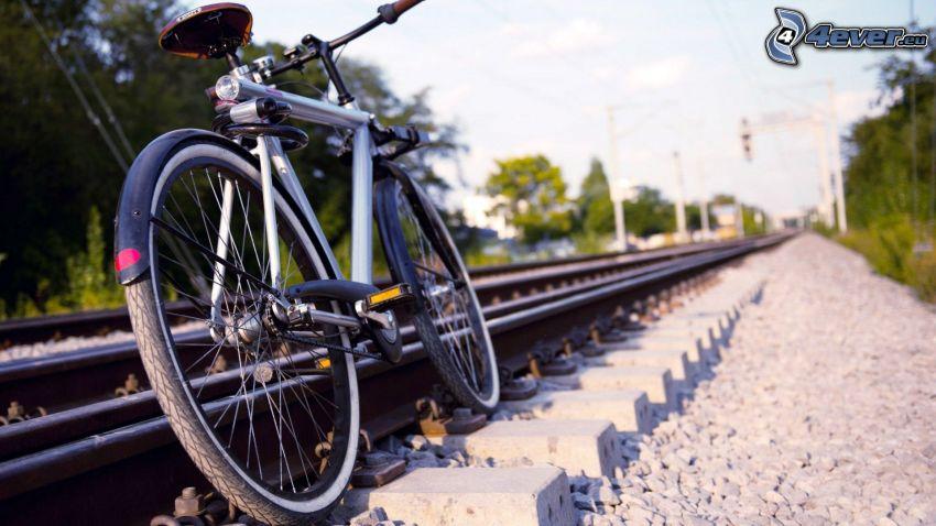 Fahrrad, Schienen