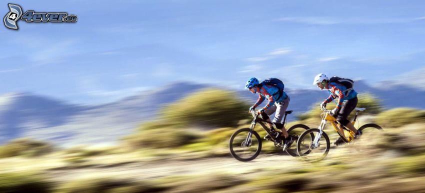 mountainbiking, Geschwindigkeit