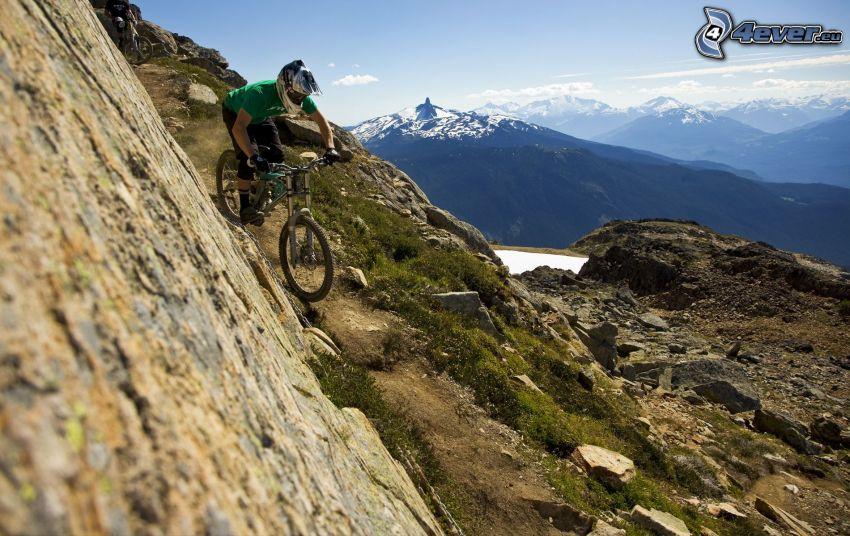 mountainbiking, Radfahren, Berge