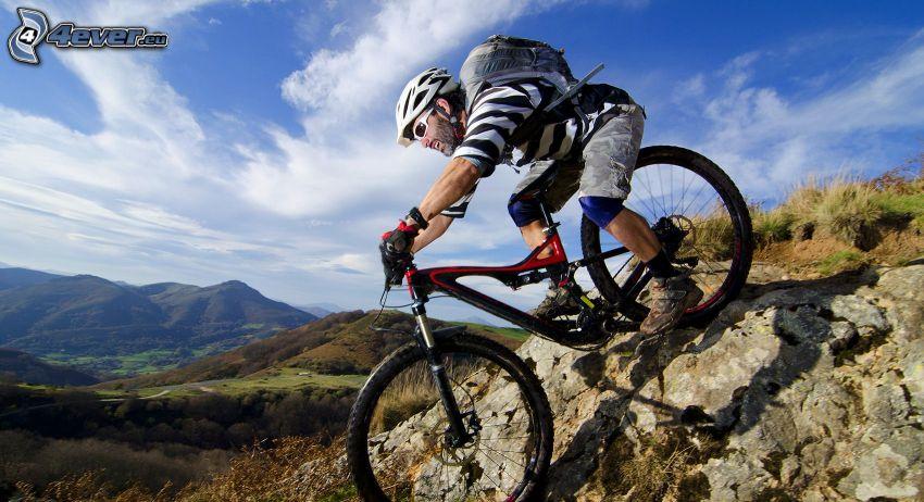 Radfahrer, MTB Downhill