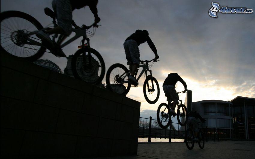 Sprung auf dem Fahrrad, Akrobatik