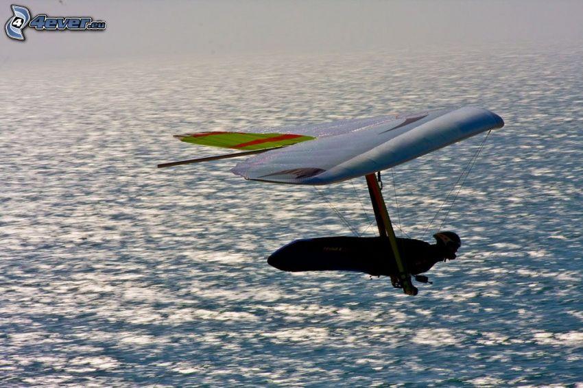 Rogallo-Flügel, Blick auf dem Meer