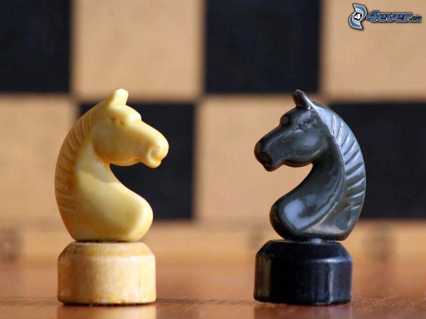 Schachfiguren, Pferde