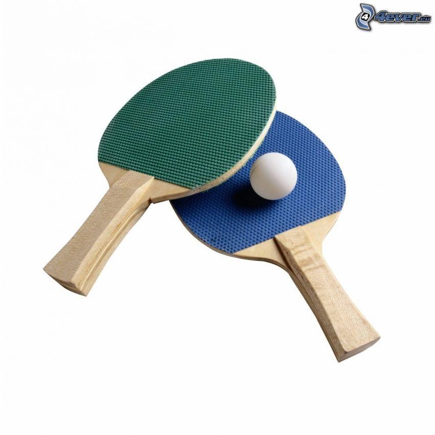 Schläger, Kugel, Tischtennis