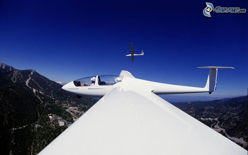 Segelflugzeug, Berge