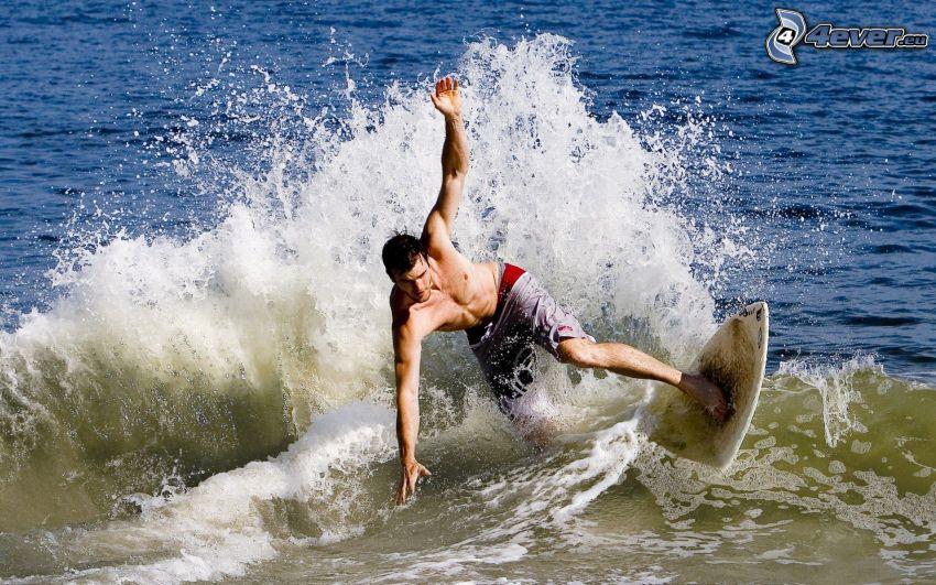 Surfer, Welle, Meer