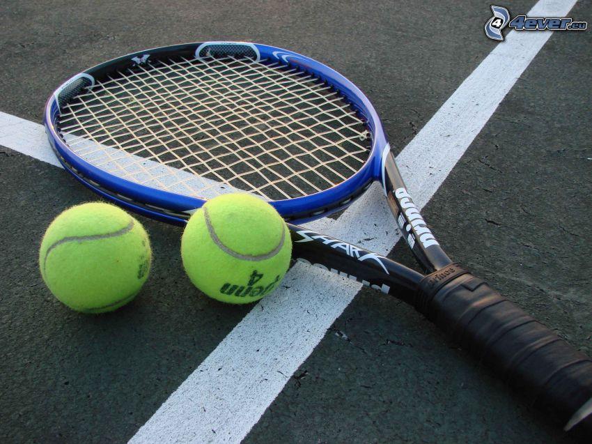 Tennisschläger, Tennisbälle