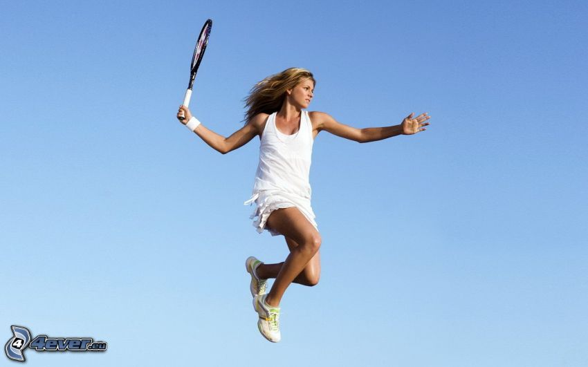 Tennisspielerin, Sprung