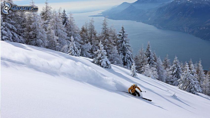 Extrem-Skifahren