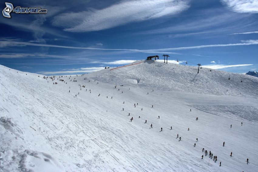 Skigebiet, Skifahren, Schnee