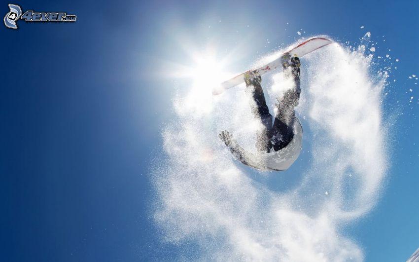 Snowboard-Sprung, Schnee