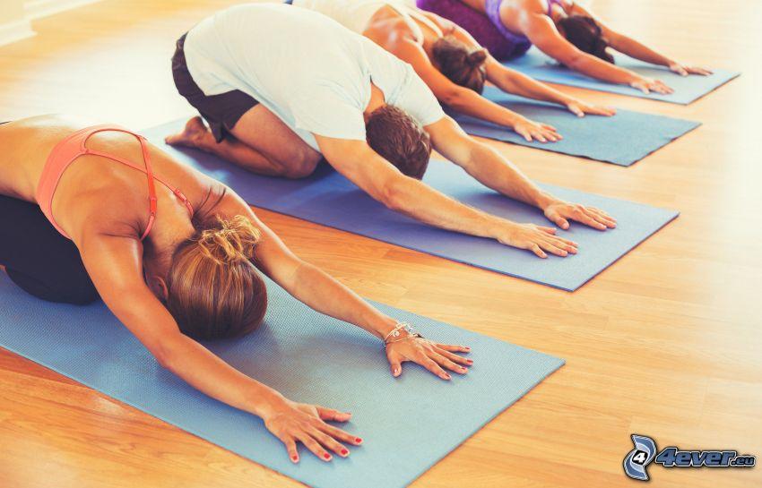 Yoga, Einturnen, Turnen