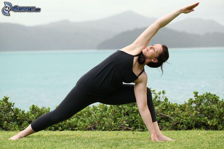 Yoga, See, Einturnen