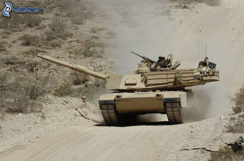 M1 Abrams, Panzer, Soldat, Staub