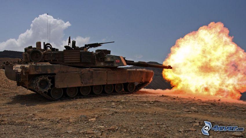 M1 Abrams, Schuss