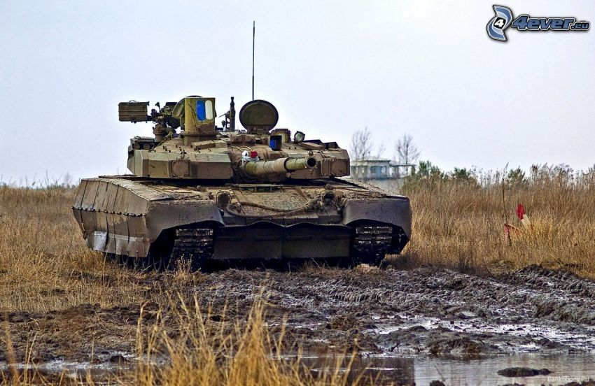 T-84, Panzer, Schlamm