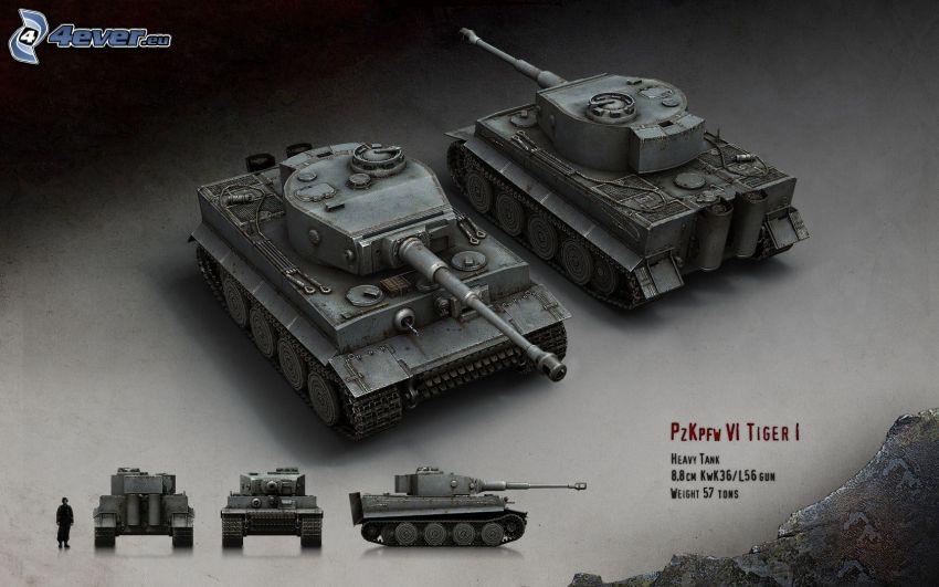 Tiger, Panzer