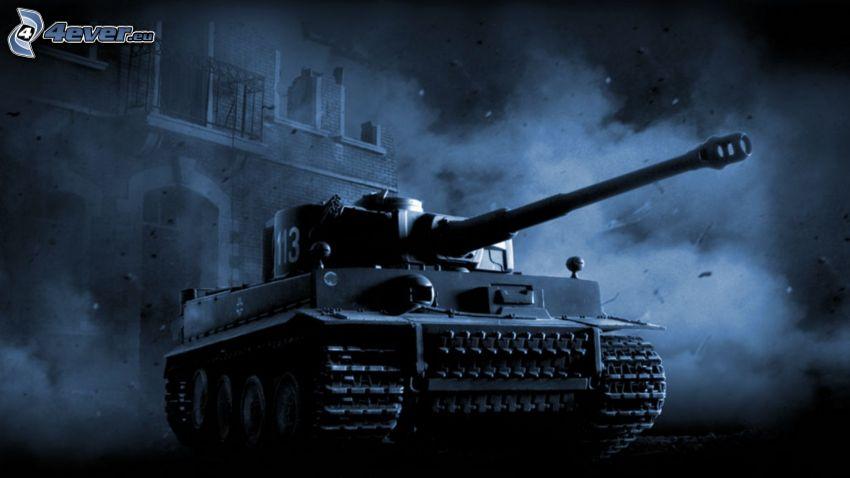 Tiger, Panzer in der Stadt