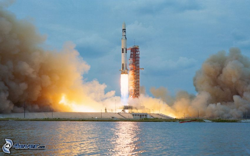Saturn V, Start der Rakete