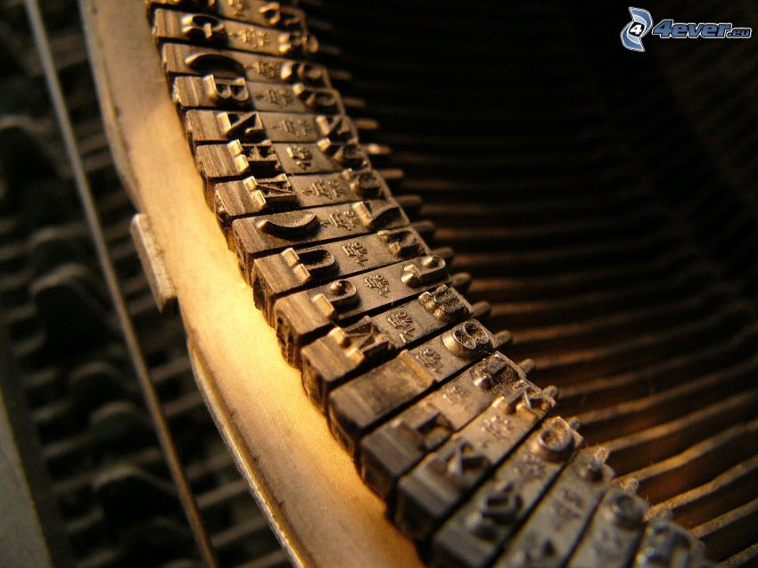 Schreibmaschine, Buchstaben