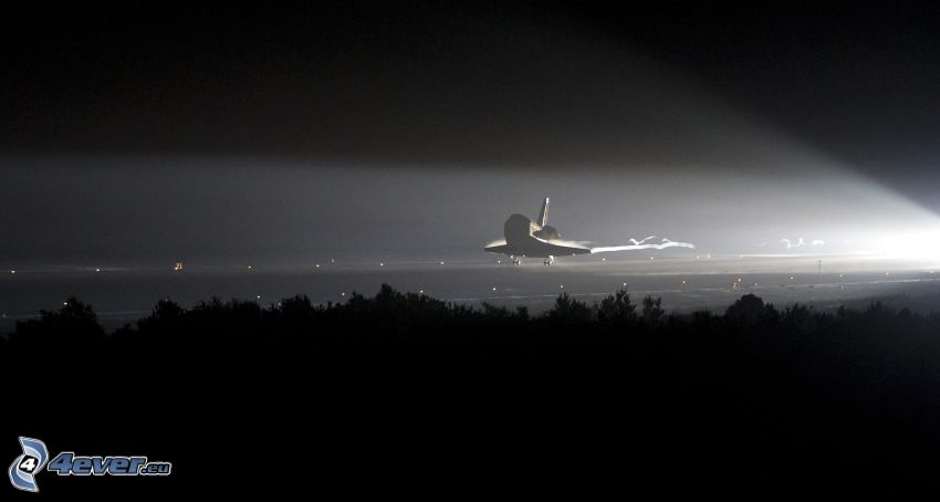 Space Shuttle, Landung, Nacht