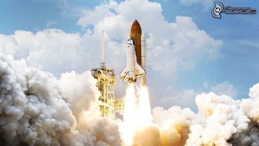 Start vom Shuttle