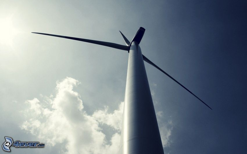 Windkraftwerk, Himmel