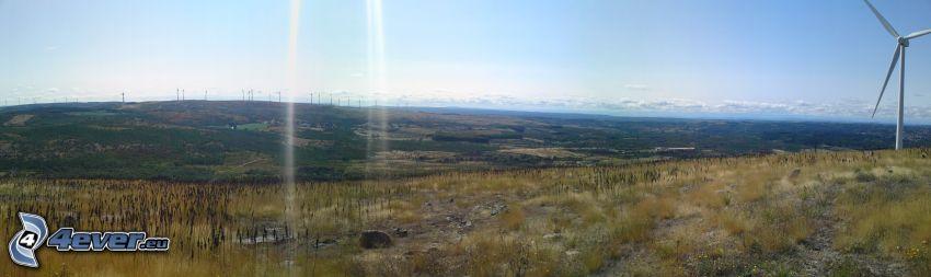 Windkraftwerke, Felder