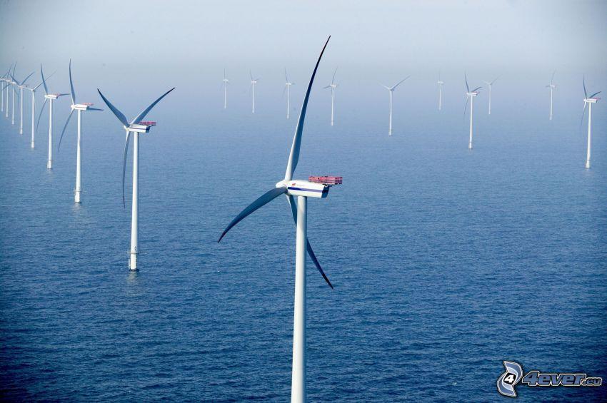 Windkraftwerke, Meer