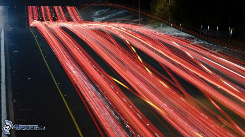Lichter, nacht-Autobahn