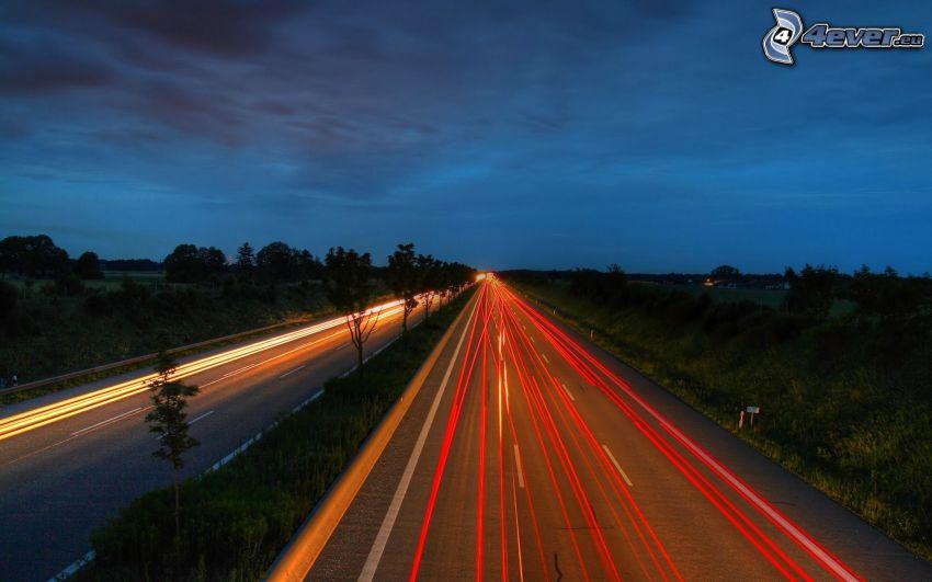 nacht-Autobahn