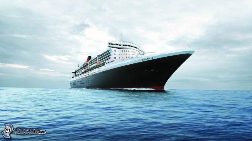 Queen Mary 2, Ausflugsschiff, Meer