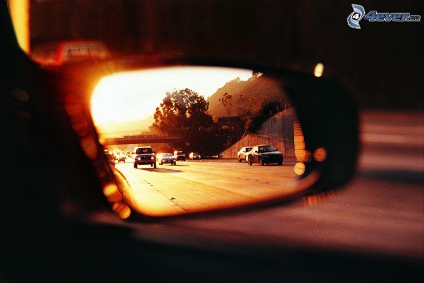 Rückspiegel, Autobahn