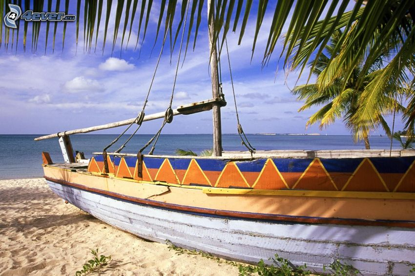 Schiff, Sandstrand