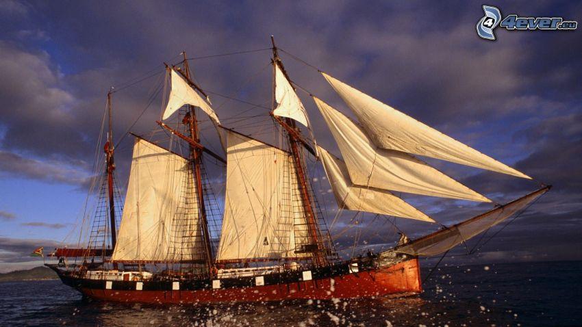 Segelschiff, Himmel