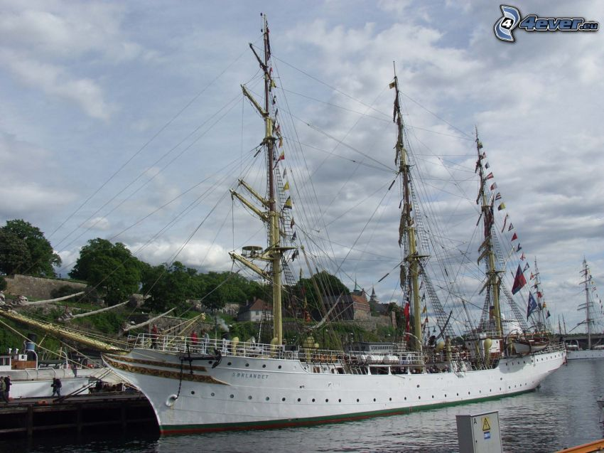 Sørlandet, Segelschiff, Hafen