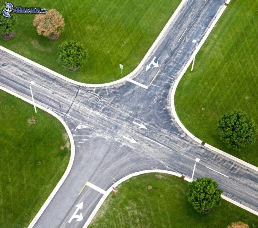 Straße, Kreuzung, Grün