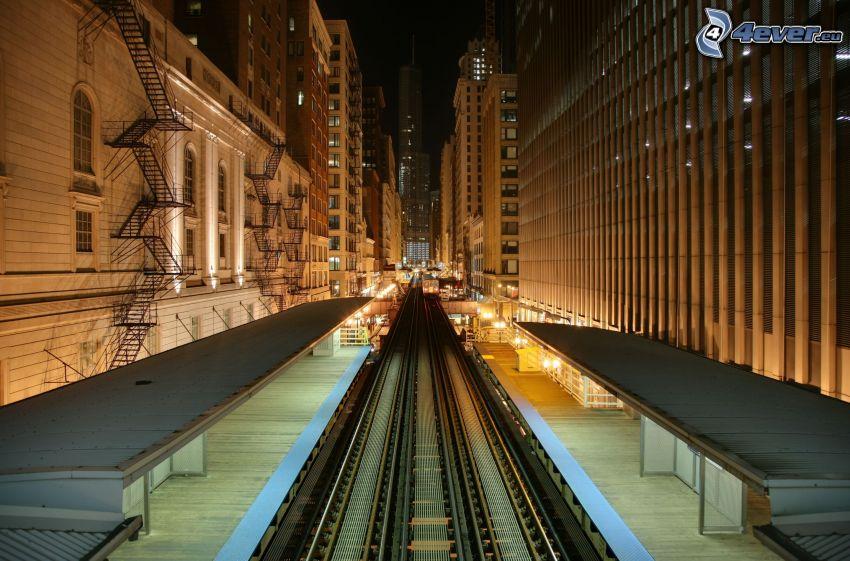Bahnhof, Chicago, Wolkenkratzer
