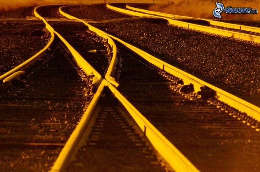 Eisenbahnweiche, Schienen