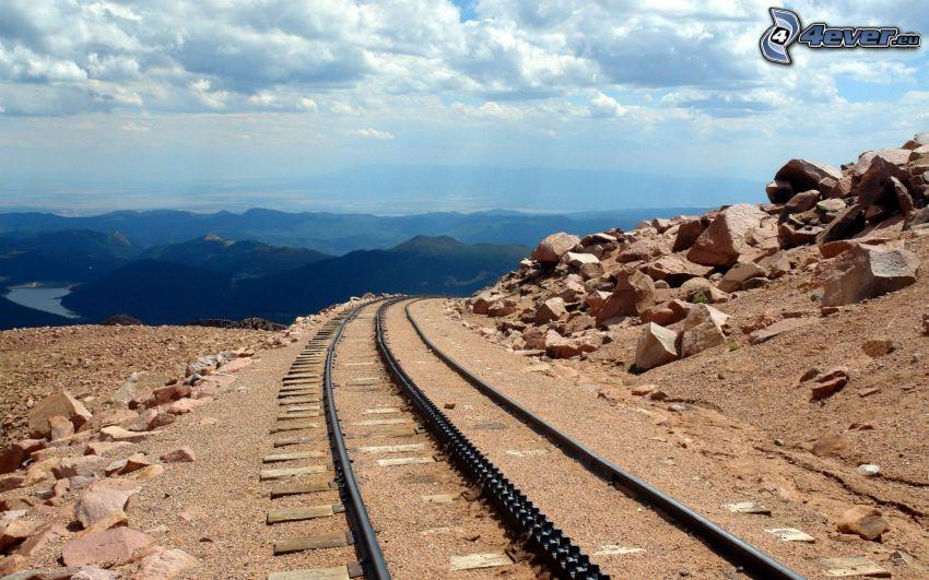 Schienen, Aussicht auf die Landschaft