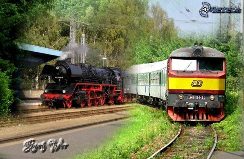 Züge, Dampflokomotive