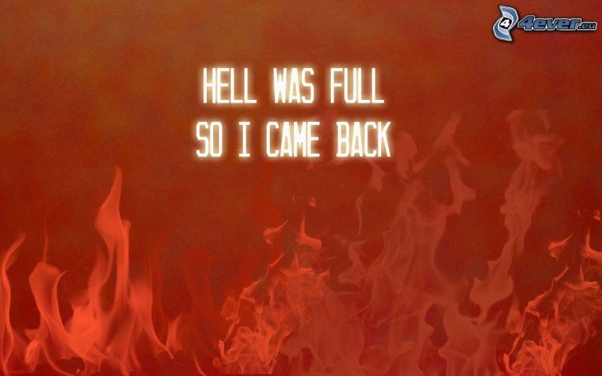 Hölle, Feuer, text