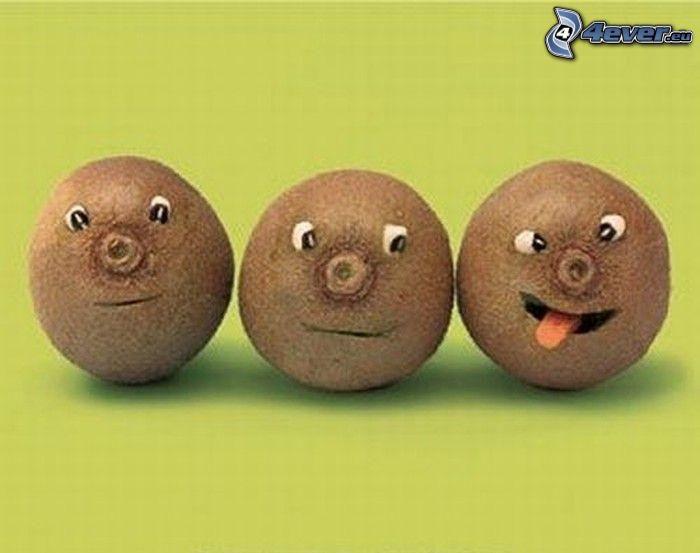 kiwi, smileys