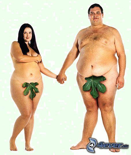 Adam und Eva, Adipositas, Paar