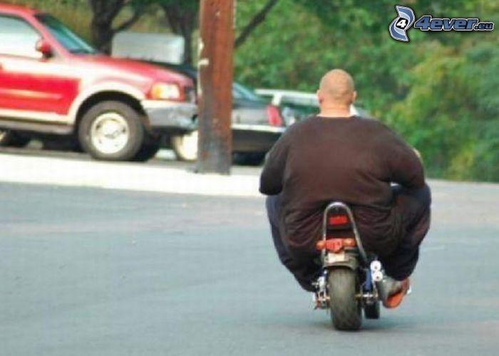 Fettsack, Motorrad